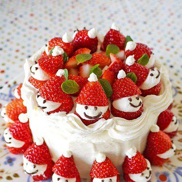 xmas mini santa cake